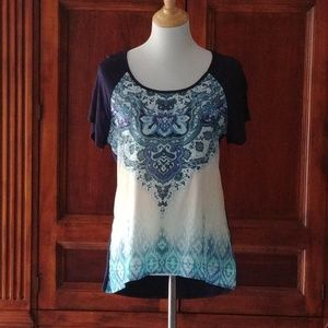 (NWT) Pretty Short Sleeve Top.  L
